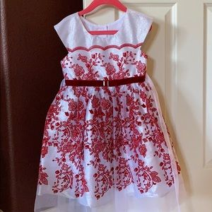 Red and white sparkle holiday dress